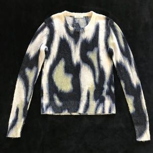 Equipment Sweaters - Equipment Femme Navy Abstract Mohair Sweater XS